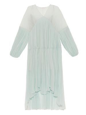 Draped silk-crépon dress