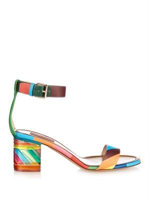 1973 Rainbow Plexi-heel sandals