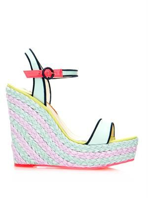 Lucita bi-colour espadrille wedge