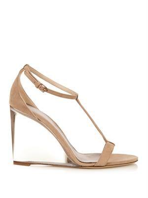 Leyburn suede wedge sandal