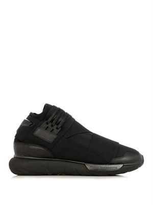 Qasa mid-top trainers