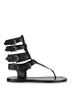 Jeepy gladiator leather sandals