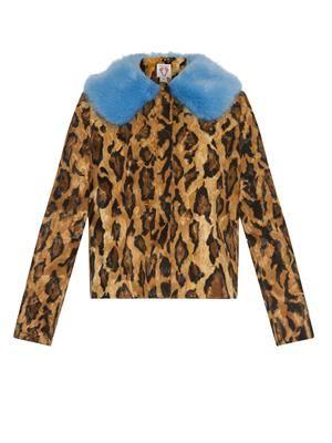 Baby Puss leopard-print faux-fur coat