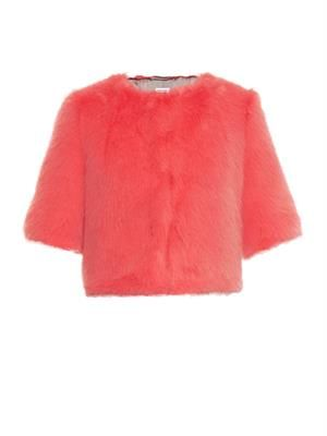 Flint faux-fur cropped jacket