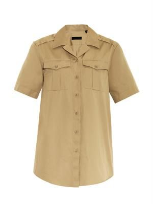 Notch-collar safari shirt