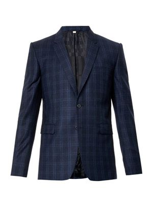 BURBERRY LONDON Stirling checked wool blazer