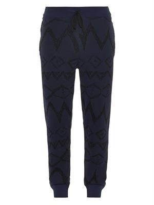 Ikat Graffiti cotton track pants