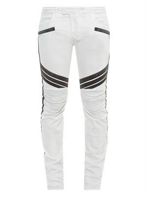 Biker slim-fit jeans