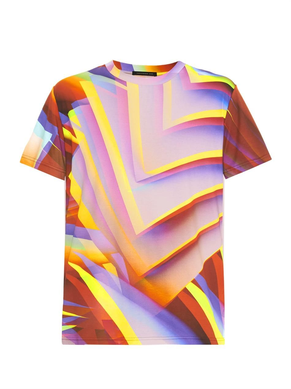 Paper-print T-shirt