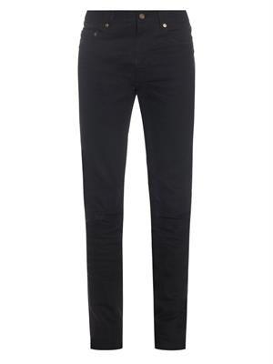 Skinny-leg ripped cuff jeans