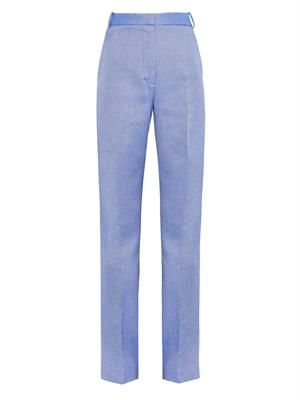 Scott wide-leg drill trousers