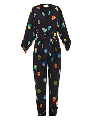 Monia superhero-print jumpsuit