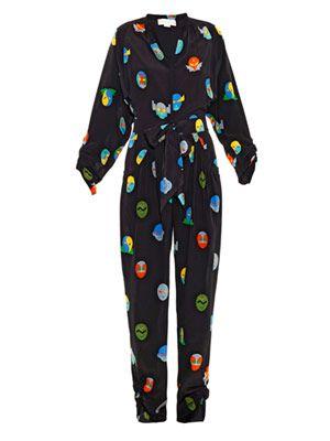 Monia superhero-print jumpsuit