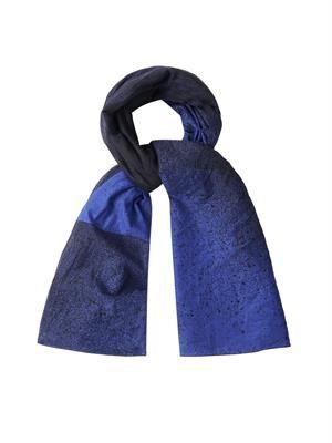 Spray paint-print cotton scarf
