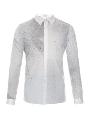 Spray-paint print cotton shirt