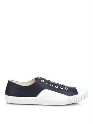Young leather low-top trainers
