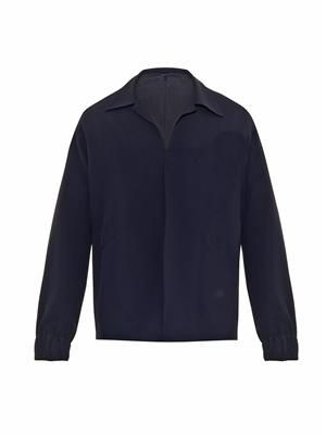 Blouson crepe jacket