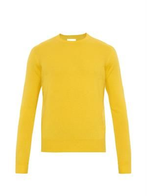 Classic crew-neck cashmere sweater
