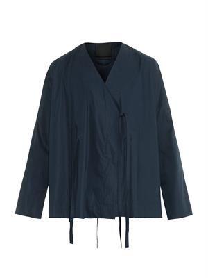 V-neck kimono jacket