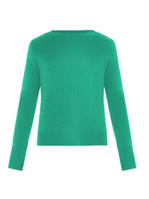 Boat-neck cashmere-blend sweater