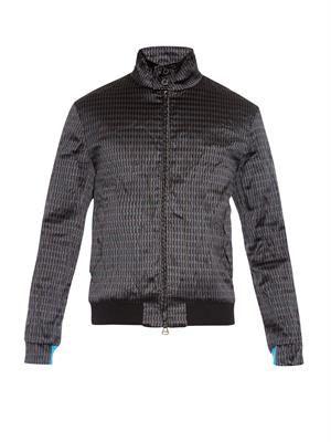 Geometric jacquard bomber jacket