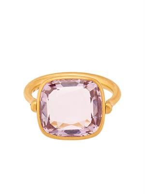 Amethyst & yellow-gold swivel ring