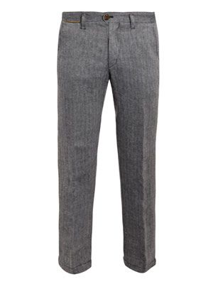Washed tweed trousers