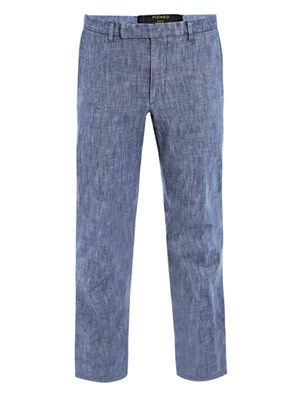 Washed chambray trousers