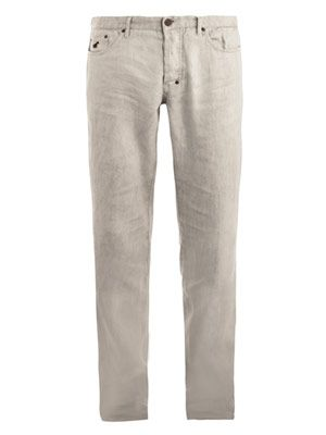 5 pocket linen trousers