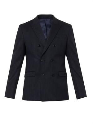 Dixon pinstripe double-breasted blazer