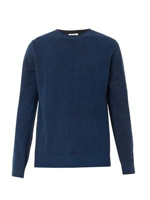 Mayer reversible wool-knit sweater