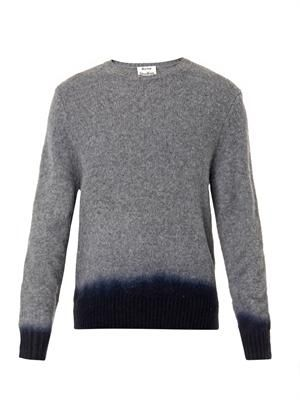 Chet dip-dye wool sweater