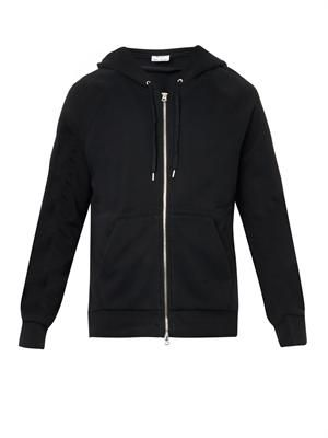 Justin cotton zip-up sweatshirt