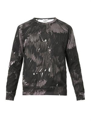 College marker-print sweatshirt