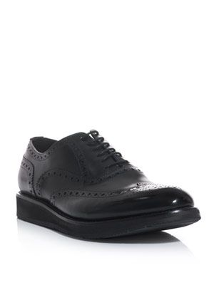High shine leather brogues