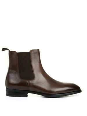 CAMPANILE High-shine leather chelsea boots