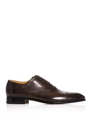 Dégradé leather derby shoes