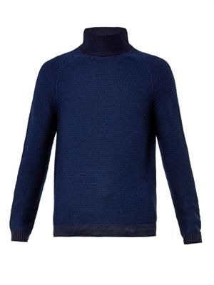 FOLK Waffle-knit wool sweater ()