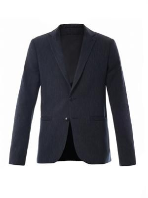 Wool-blend tailored blazer