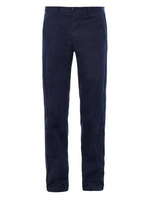 Bound chino trousers