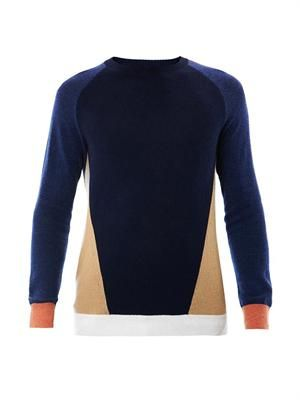 Omar colour-block sweater