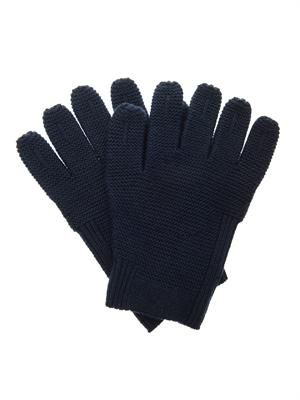 Chunky-knit wool gloves