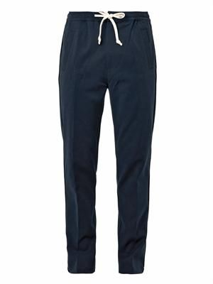 Drawstring stretch-jersey trousers