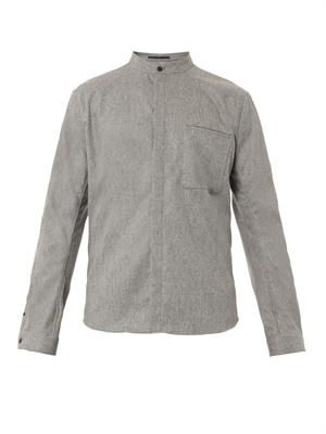 Wool-flannel shirt