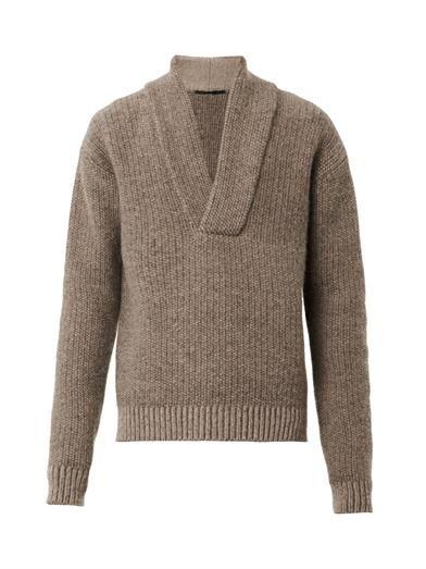 Haider Ackermann Shawl-neck knit sweater