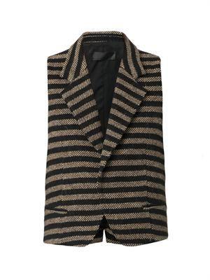 Bartolini striped wool waistcoat