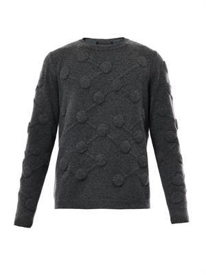 3D Molecule cashmere-knit sweater