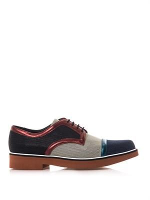 Colour-block lace-up shoes