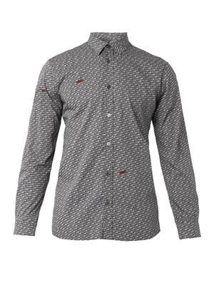Freedom-print cotton shirt