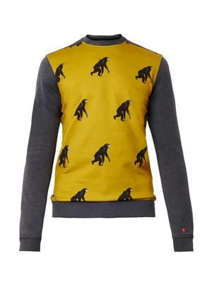 Monkey-print sweatshirt
